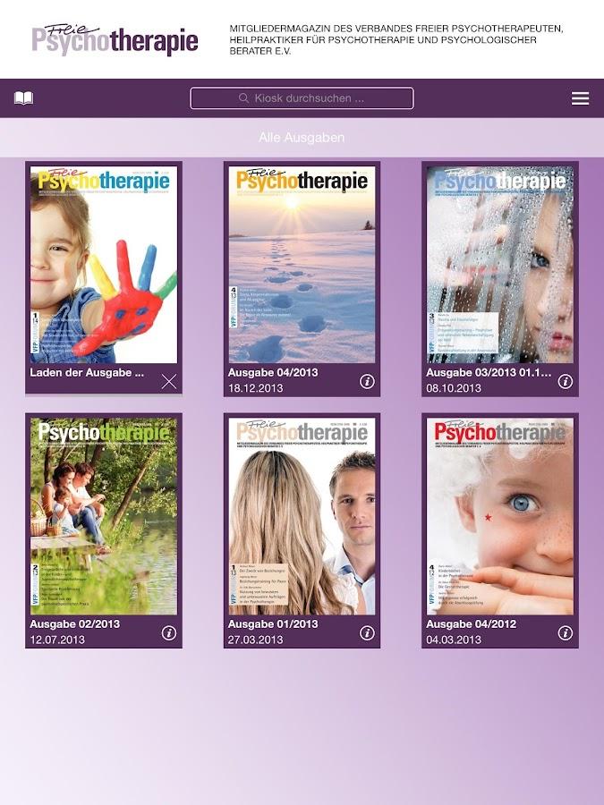 Freie Psychotherapie - PsyMag - screenshot