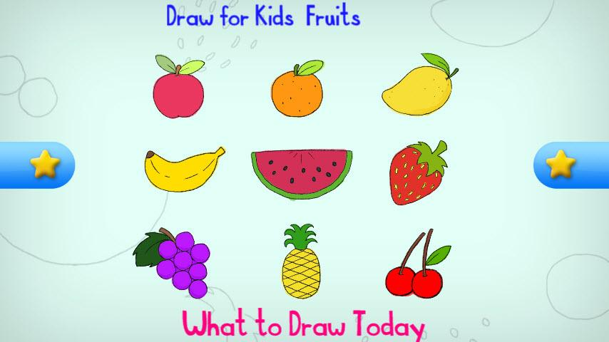 food drawing for kids. draw for kids fruit screenshot food drawing