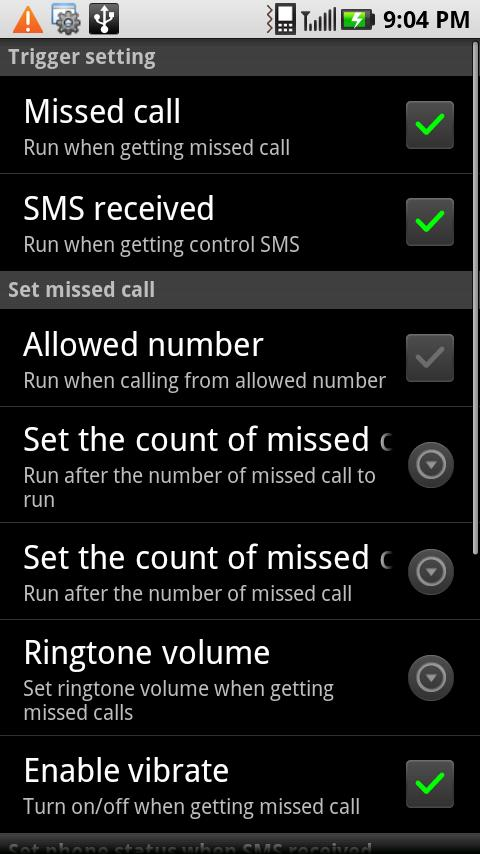Droid Control- screenshot