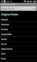 Screenshot of Fanfiction Reader Classic