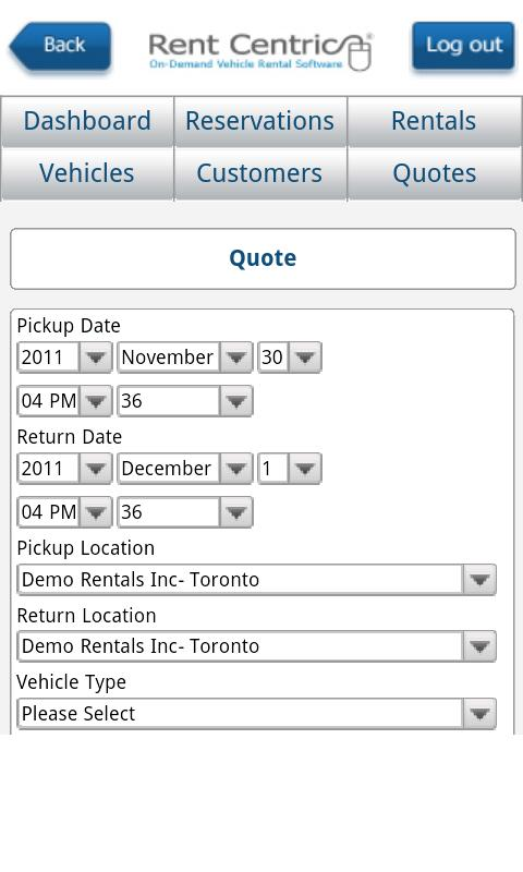 Rent Centric - screenshot