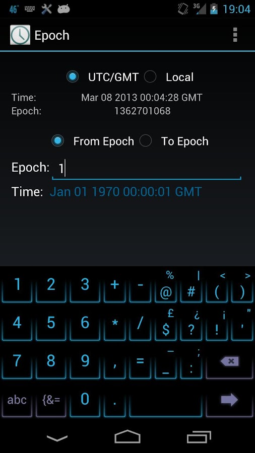 Convert epoch time to date