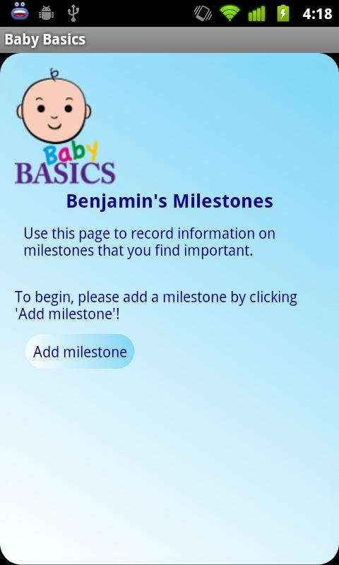 Baby Basics- screenshot