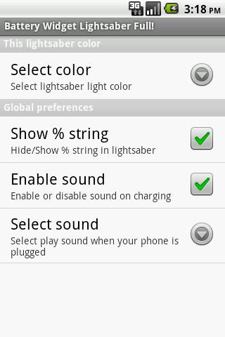 Battery Widget Lightsaber Full- screenshot
