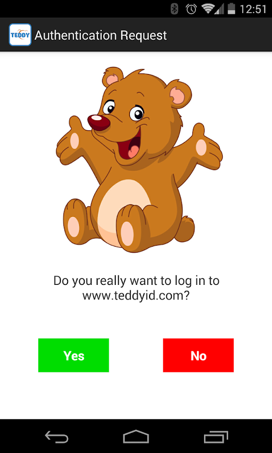 Teddy ID Password-Free Login - screenshot