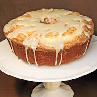 Pound Cake with Maple Glaze.
