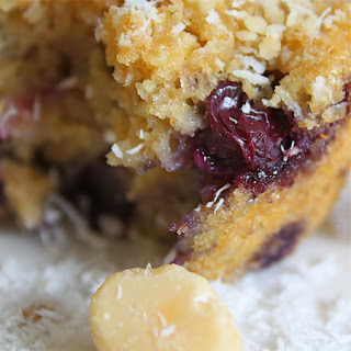 Blueberry Coconut Macadamia Muffin