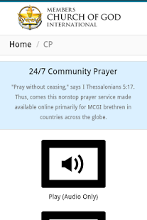 MCGI App- screenshot thumbnail