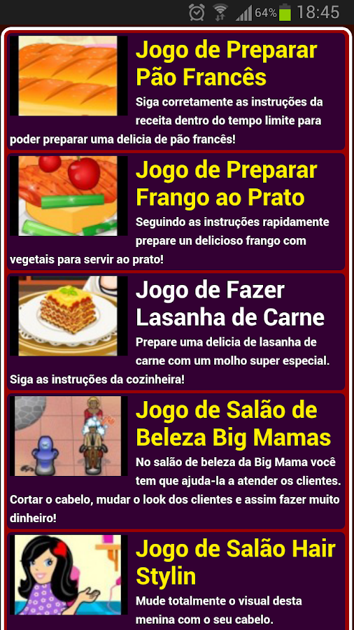 Jogos de culinária - screenshot