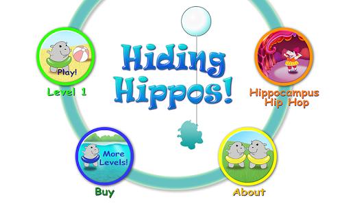 Hiding Hippos Memory Game Free