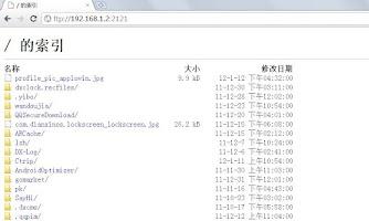 Screenshot of SD Card File Explorer WIFI