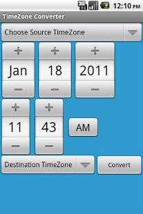 TimeZone Converter- screenshot thumbnail