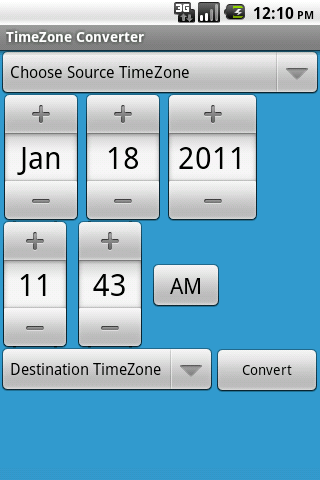 TimeZone Converter - screenshot