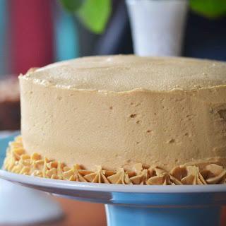 Dark Chocolate Cake w/ Peanut Butter Buttercream