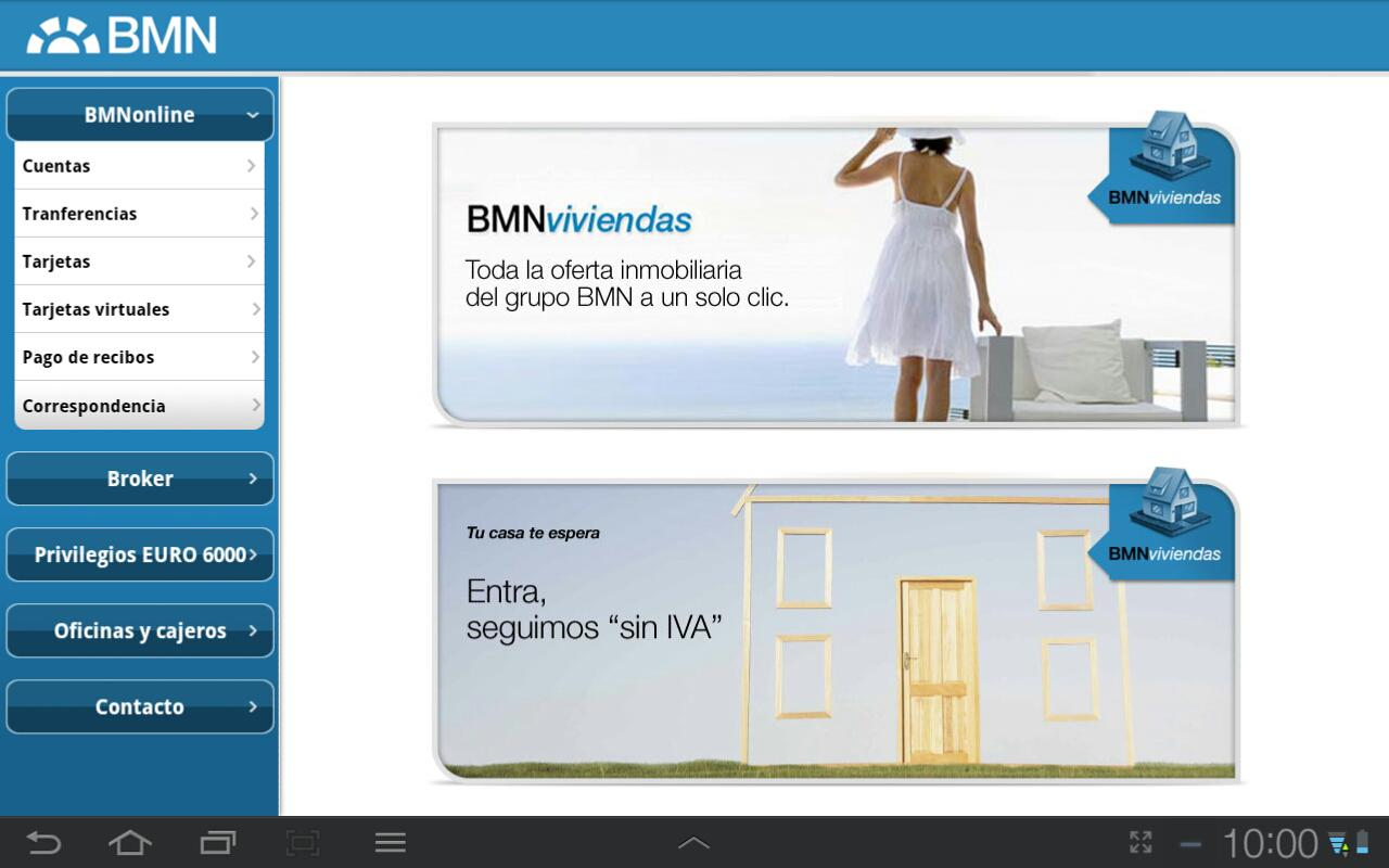 BMN Banca Online - screenshot