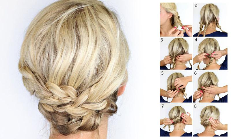 Hairstyles Step By Step chignon bun hairstyle step by step Braided Hairstyles Steps 2016 Screenshot