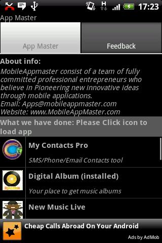 App Master - screenshot