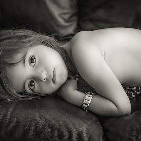 by Nathalie Gemy - Babies & Children Children Candids ( girl child, black and white, child portraits, child portrait, kids portrait )