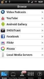 ZappoTV Mobile Media Center Screenshot 1