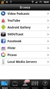 ZappoTV Mobile Media Center Screenshot 1