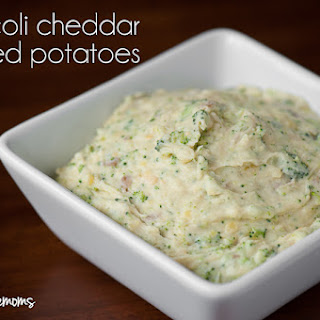 Broccoli Cheddar Mashed Potatoes.
