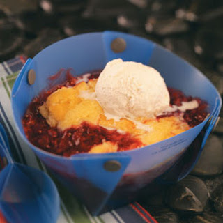Cake & Berry Campfire Cobbler