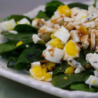 Balsamic Spinach Salad with Gorgonzola and Hard-Boiled Eggs
