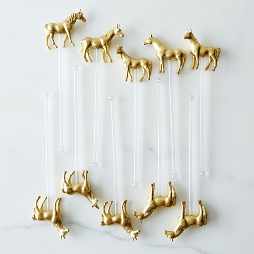 Pony Drink Stirrers (Set of 10) - Clear