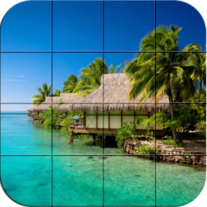 Tile puzzle – Beach Villa for PC and MAC