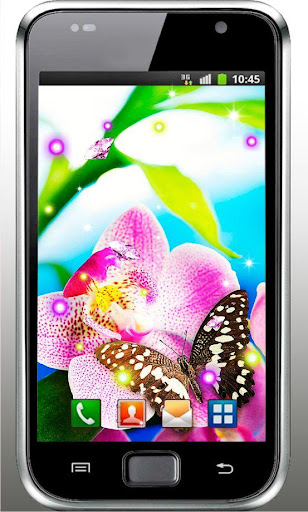 Orchid Photo live wallpaper