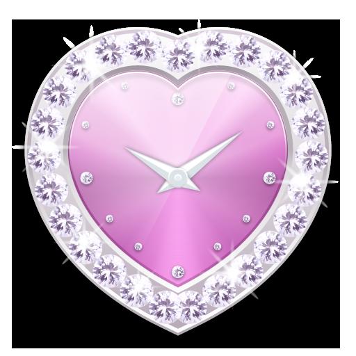寶石心時鐘部件 P -Me Clock Skin LOGO-APP點子