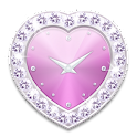 Heart clock widget P -Me Clock icon