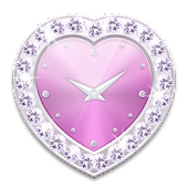 Heart clock widget P -Me Clock