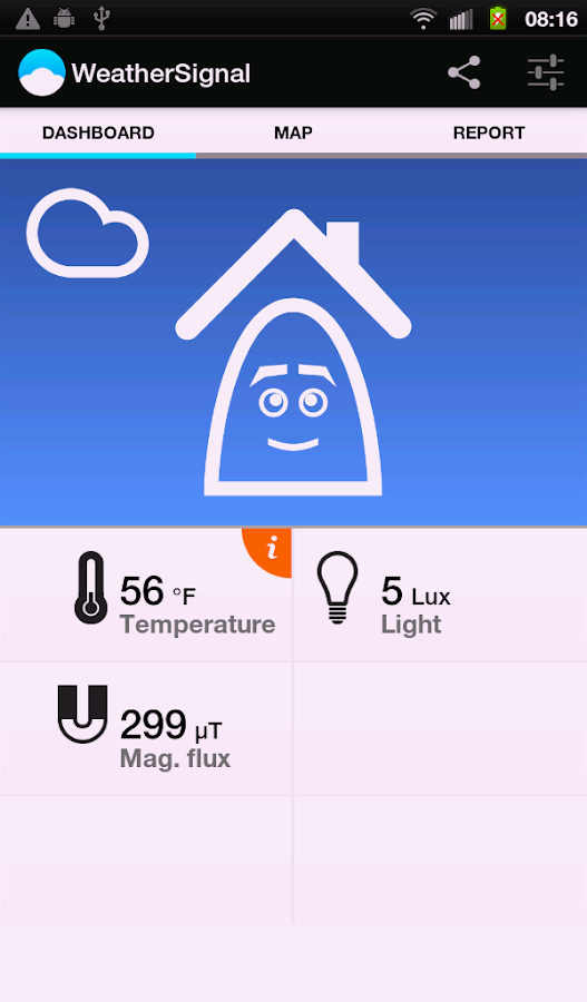 Mobile Weather Station - screenshot