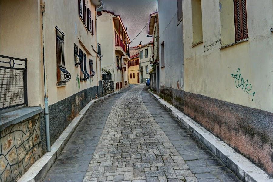 Ioannina by Stratos Lales - City,  Street & Park  Neighborhoods ( street, neighborhood, traditional, house, city )