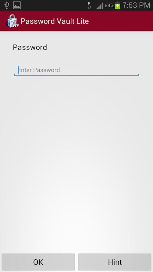 Password Vault Lite - screenshot