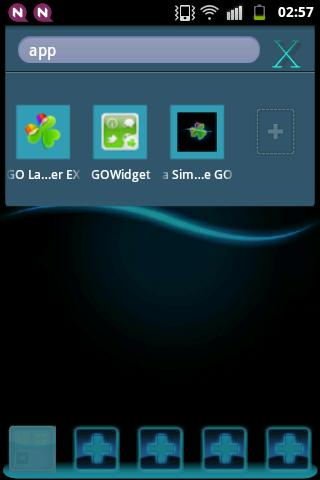GO Theme Launcher EX Blue- screenshot