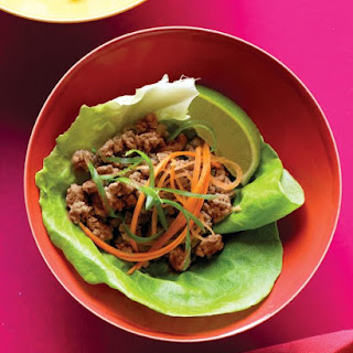 Stir-Fried Turkey in Lettuce Wraps.