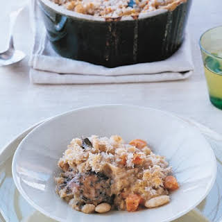 Chicken Cassoulet with Crisp Breadcrumb Topping.