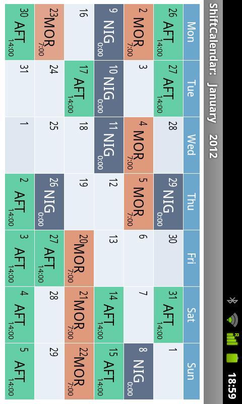 calendario 5 turnos policia 2013