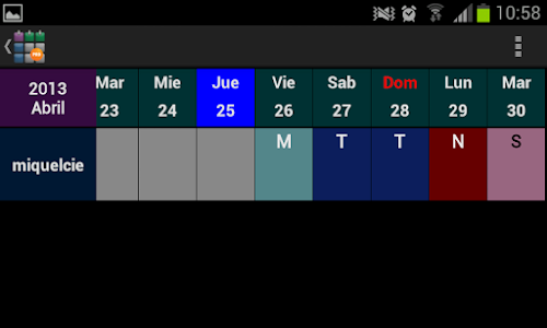 SaTurnos Pro Calendar v4.67