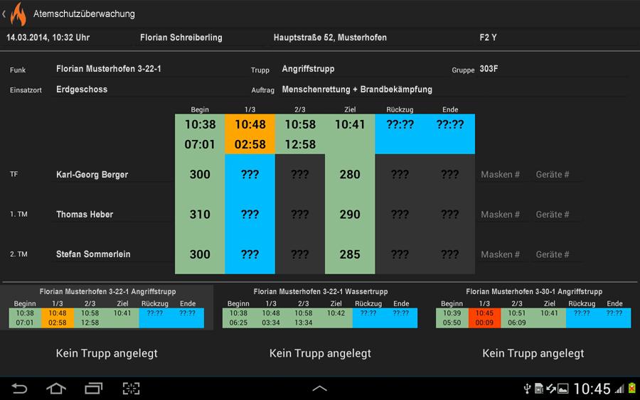 Atemschutzüberwachung - screenshot