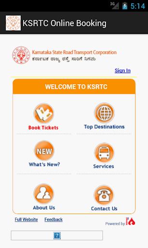 KSRTC Online Booking