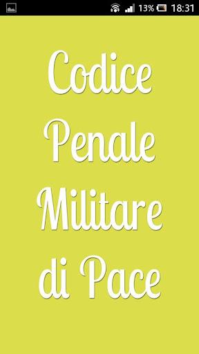 Codice Penale Militare di Pace
