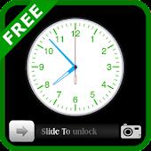 Analog Clock Slider Lock