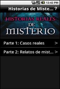 Historias Reales de Misterio- screenshot thumbnail