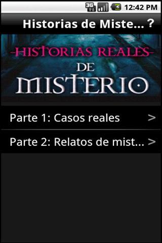 Historias Reales de Misterio- screenshot