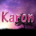Karon pink sticker logo