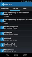 Screenshot of Fresh 92.7