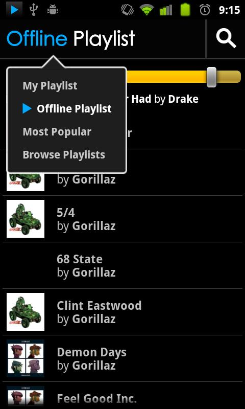 BluePlaylist Music Player - screenshot